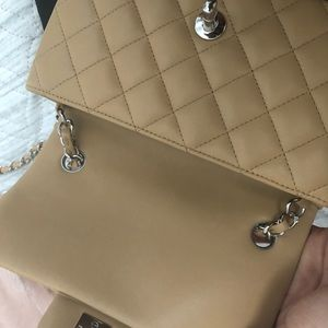 CHANEL Bags - NEW with box and tags Chanel Mini F/W S/19. Beige